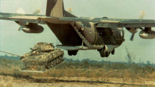 C-130 tank airdrop